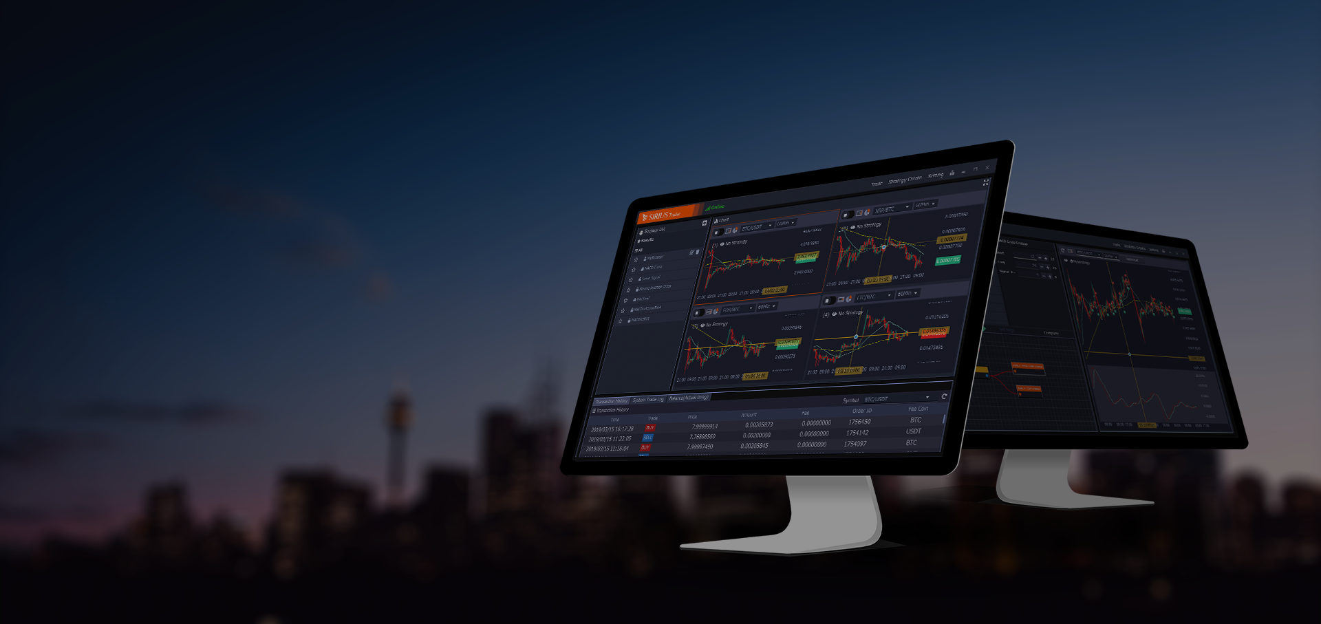 Trade like a professional with SIRIUS Trader and have fun!